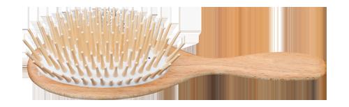 Holzhaarbürste für langes Haar