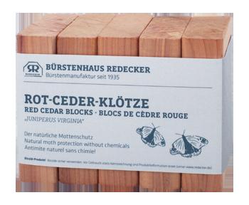 Rot-Ceder-Klötze