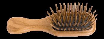Taschen-Holzhaarbürste